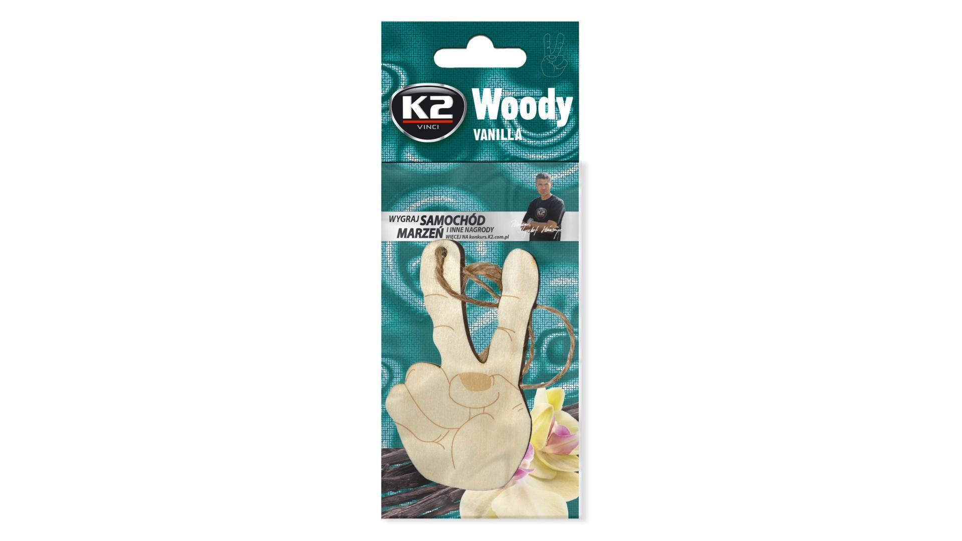 K2 Osviezovac vzduchu zavesny Woody Victory Vanilla