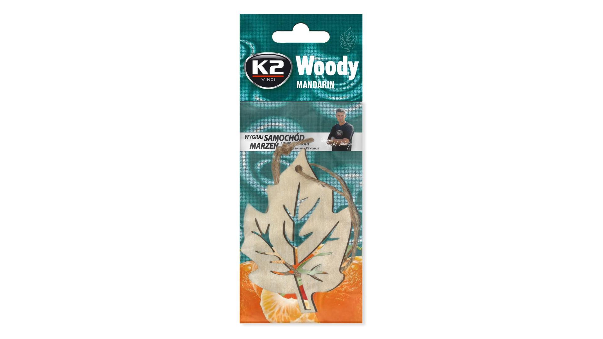 K2 Osviezovac vzduchu zavesny Woody Leaf Mandarin