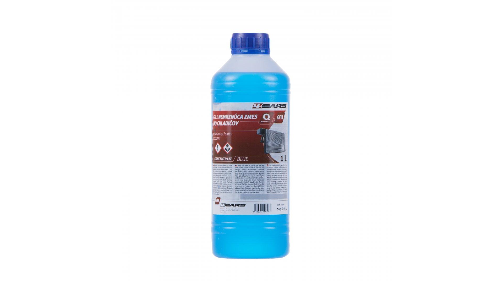 4CARS G11 Nemrznúca zmes do chladičov 1L